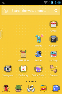 Cartoon Party android theme home screen