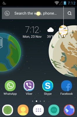 Home Planet android theme