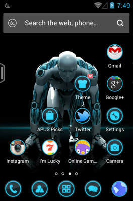 Minorities android theme home screen