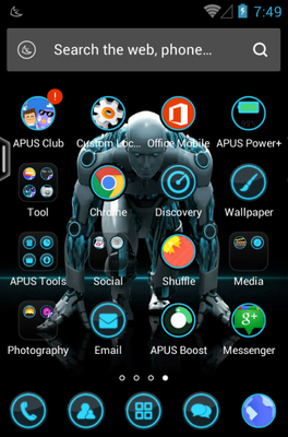 Minorities android theme application menu