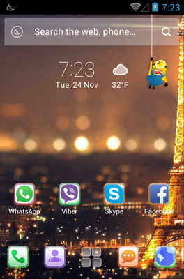 Glass android theme