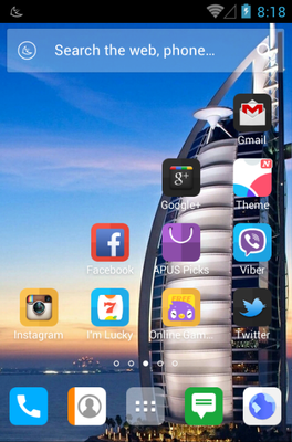 Hello Dubai android theme home screen