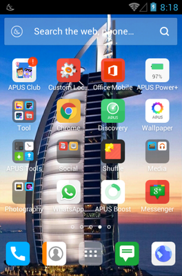 Hello Dubai android theme application menu