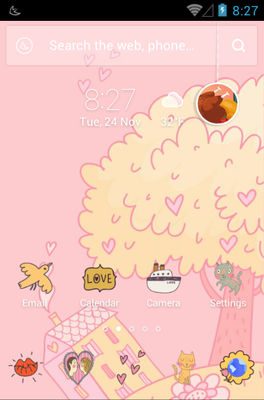 android theme 'All You Need Is Love'