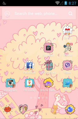 All You Need Is Love android theme home screen