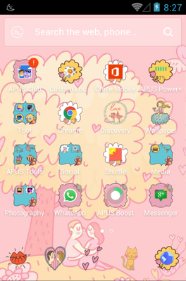 All You Need Is Love android theme application menu