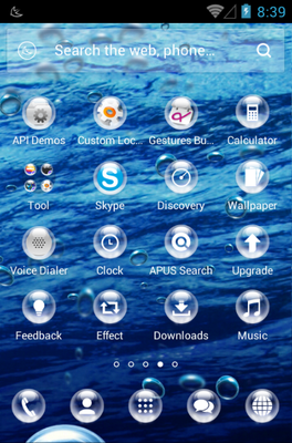 Drops android theme application menu