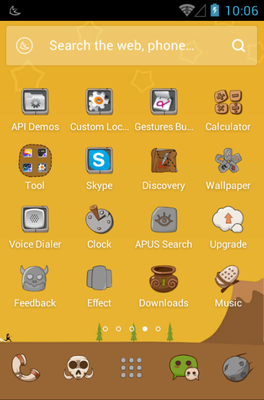 The Stone Age android theme application menu