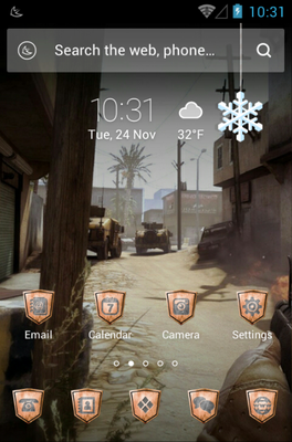 Cross the Danger android theme