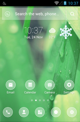 android theme 'Frosted Glass'