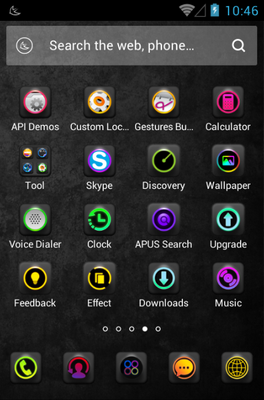 Light Line android theme application menu