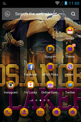 Basketball Dream android theme home screen