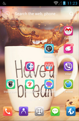 Have a Break android theme home screen