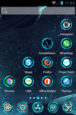 Technology android theme home screen