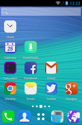 Cream Color android theme home screen