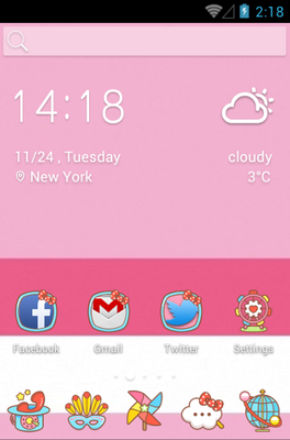 android theme 'Love Kitty'