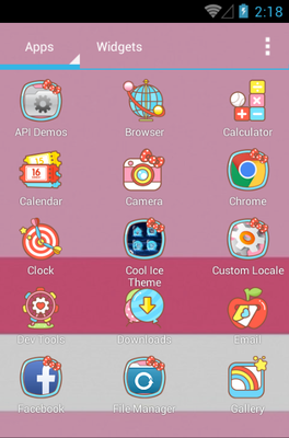 Love Kitty android theme application menu