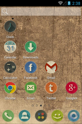 Retro android theme home screen