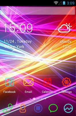 android theme 'Light Wave'