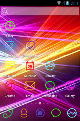 Light Wave android theme home screen