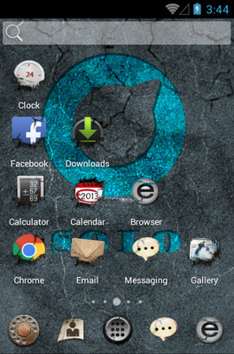 Cool Shock android theme home screen