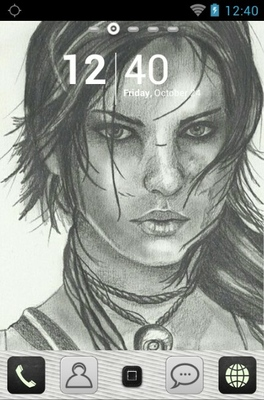 android theme 'Larа Croft'